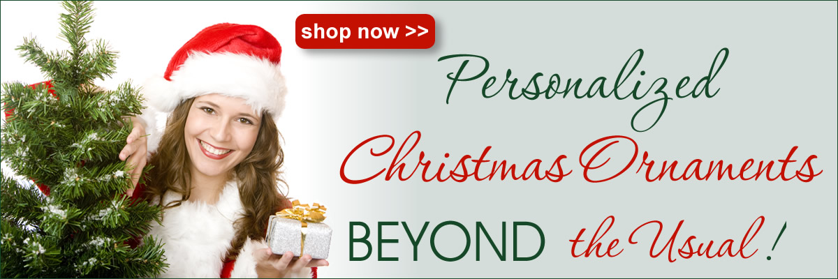 shop personalized christmas ornaments