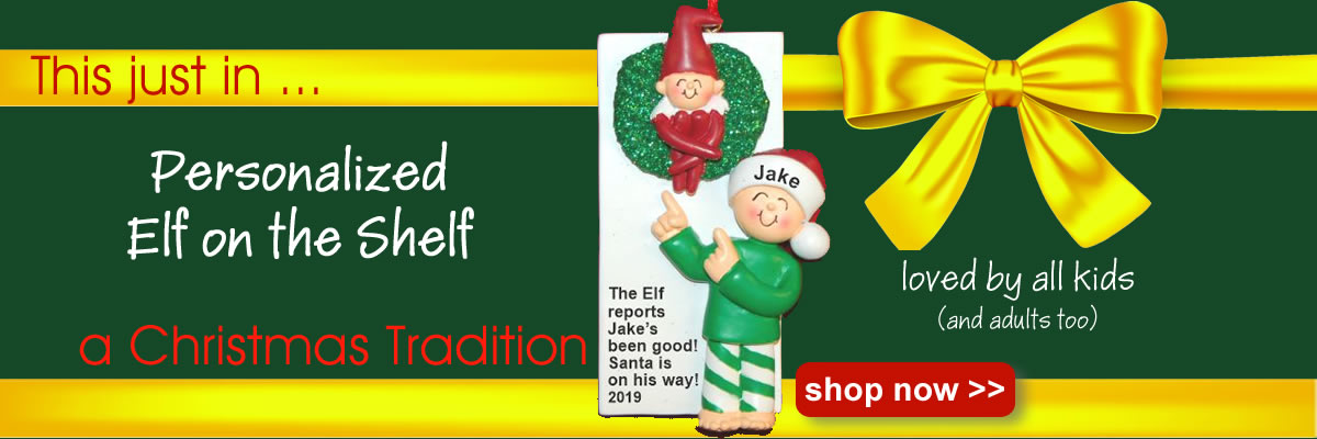 elf on the shelf ornament personalized