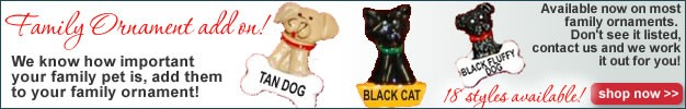 personalized family ornament pets