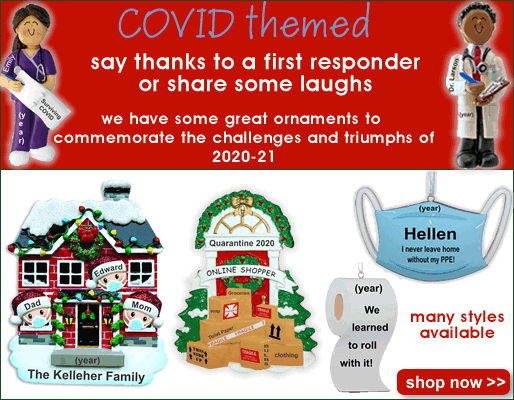 COVID Ornaments Personalized