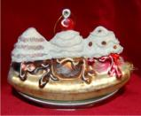 Richly Deserved Delicious Banana Split Christmas Ornament Personalized by Russell Rhodes