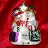 Shop 'Til Ya Drop Sista  Christmas Ornament Personalized by Russell Rhodes