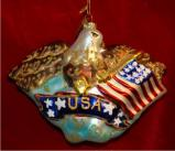 Eagle Christmas Ornament Personalized by Russell Rhodes