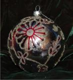 Paisley Flair Holiday Ball Glass Christmas Ornament