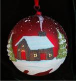 Our Cabin Our Time Our Place Glass Ball Ornament