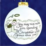 Ornament in Memory of Dad Christmas Ornament Personalized by Russell Rhodes