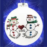 There's No Snowman Like My Snowman Christmas Ornament Personalized by Russell Rhodes