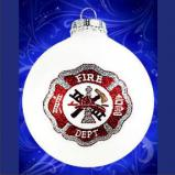 Last Alarm Fireman Memorial Christmas Ornament Personalized by Russell Rhodes