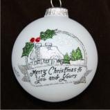 Christmas Cottage Christmas Ornament Personalized by Russell Rhodes