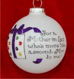 Much Loved Mother-in-Law Christmas Ornament Personalized by Russell Rhodes