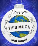 I Love You This Much Christmas Ornament Personalized by Russell Rhodes