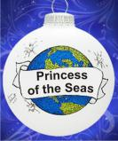 Cruising the Oceans Blue Christmas Ornament Personalized by Russell Rhodes