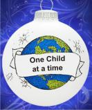 Education: One Child at a Time Christmas Ornament Personalized by Russell Rhodes