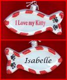 Kitty Cat Cute Christmas Ornament Personalized by Russell Rhodes