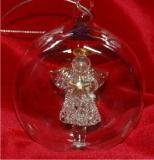 Angel Hand Blown in Glass Personalized Christmas Ornament Personalized by Russell Rhodes