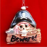 Danger - Pirates Here Christmas Ornament Personalized by Russell Rhodes