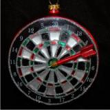 Championship Board Darts Glass Christmas Ornament Personalized by Russell Rhodes
