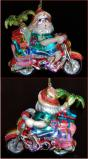 Beachbound Santa Motorcycle Christmas Ornament Personalized by Russell Rhodes