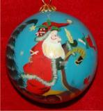 Making His List - Family Christmas Ornament Personalized by Russell Rhodes