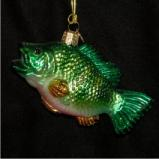 Largemouth Bass Glass Christmas Ornament Personalized by Russell Rhodes