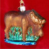 Munching Moose Christmas Ornament Personalized by Russell Rhodes