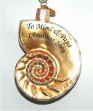 Nautilus Shell Beach n' Sea Glass Christmas Ornament Personalized by Russell Rhodes