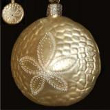 Sand Dollar Blown Glass Christmas Ornament Personalized by Russell Rhodes