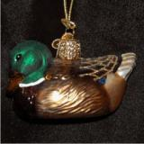 Mallard Drake Duck Glass Christmas Ornament Personalized by Russell Rhodes