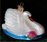 Monet's Graceful Swan Christmas Ornament Personalized by Russell Rhodes
