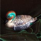 Green-Winged Teal Christmas Ornament Personalized by Russell Rhodes