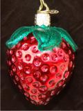 Summer Strawberry Glass Christmas Ornament Personalized by Russell Rhodes