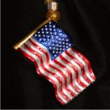 Star Spangled Banner Glass Christmas Ornament Personalized by Russell Rhodes