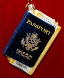 International Passport Personalized Christmas Ornament Personalized by Russell Rhodes