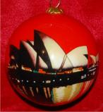 The Sydney Opera House Christmas Ornament Personalized by Russell Rhodes