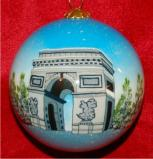 The Arch of Triumph Paris Christmas Ornament Personalized by Russell Rhodes