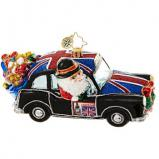 Britain Bound Hitting the Town Santa Christmas Ornament Personalized by Russell Rhodes