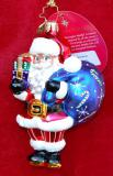 Jolly Saint Nick European Glass Christmas Ornament Personalized by Russell Rhodes