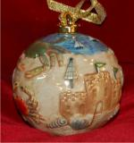 My First Sandcastle Beach Vacation Porcelain Hand Painted Ball Personalized by Russell Rhodes