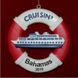 Life Buoy Cruise Ship Personalized Christmas Ornament Personalized by Russell Rhodes