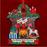 Family Fireplace for 2 Christmas Ornament Personalized by Russell Rhodes