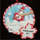 Snowy Fun Baseball Christmas Ornament Personalized by Russell Rhodes