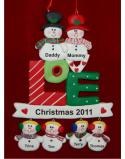 LOVE - Family Christmas for 6 Christmas Ornament Personalized by Russell Rhodes