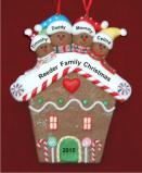 GB House for Fam of 4 Christmas Ornament Personalized by Russell Rhodes
