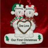 Our First Christmas Polar Bears Personalized Christmas Ornament Personalized by Russell Rhodes