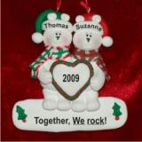 Polar Bear Couple Personalized Christmas Ornament Personalized by Russell Rhodes
