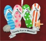 Let's Go To the Beach for Four Christmas Ornament Personalized by Russell Rhodes