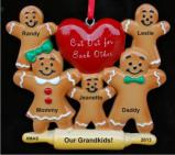 Made for Each Other - Grandparents with 3 Grandkids Christmas Ornament Personalized by Russell Rhodes