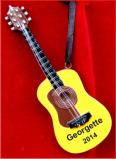 Artistic Flair Acoustic Guitar Christmas Ornament Personalized by Russell Rhodes