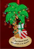 Holiday Palm Island Breeze Christmas Ornament Personalized by Russell Rhodes