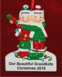 Holiday Lights Funtastic 2 Grandkids Personalized Christmas Ornament Personalized by Russell Rhodes